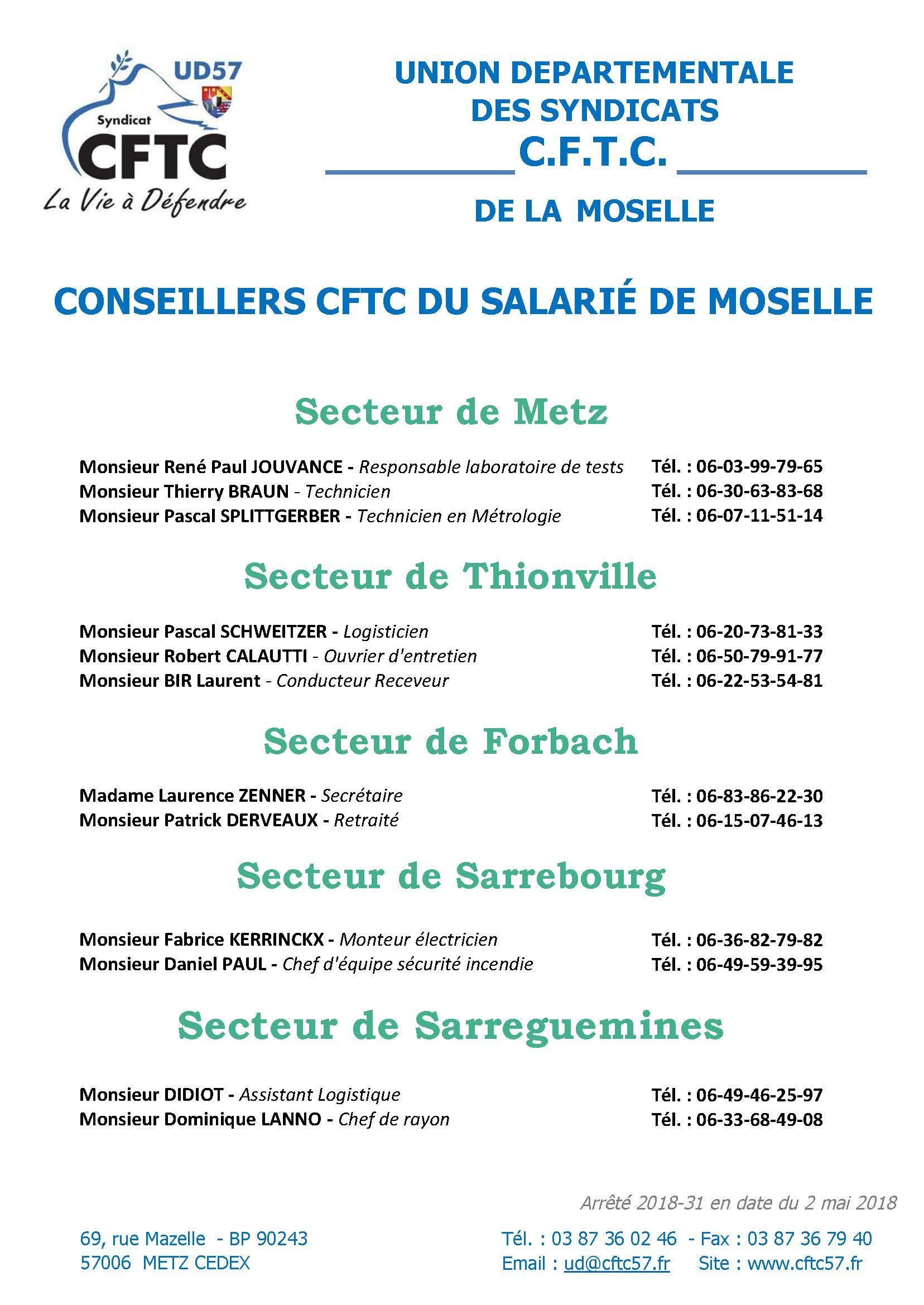 Les Conseillers Du Salarie Cftc Cftc Union Departementale 57